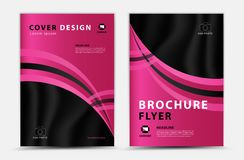 Pink cover template vector design, brochure flyer, annual report, magazine ad, advertisement, book cover layout, poster, cosmetics vector illustration