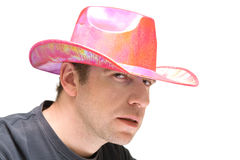 Pink cowboy hat Royalty Free Stock Image