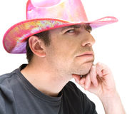 Pink cowboy hat Royalty Free Stock Photo