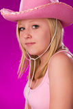 Pink Cowgirl Stock Photos