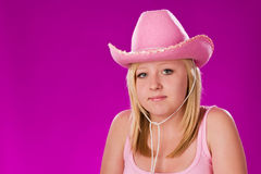 Pink Cowgirl Royalty Free Stock Photos