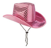 Pink cowgirl hat Royalty Free Stock Images