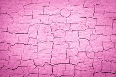 Pink Cracked Paint royalty free illustration