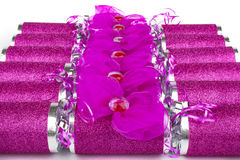 Pink Crackers Stock Image