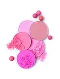 Pink crashed blush and  ball blush Royalty Free Stock Images