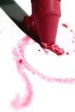 Pink crayon Stock Image
