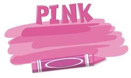 Pink crayon background concept. Illustration royalty free illustration