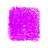 Pink crayon scribble texture stain isolated on white background. Vector colorful detailed backdrop with crayon scribble texture. Abstract stain isolated on white Stock Photos