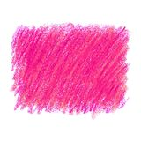 Pink crayon scribble texture stain isolated on white background. Vector colorful detailed backdrop with crayon scribble texture texture. Abstract stain isolated Royalty Free Stock Photo