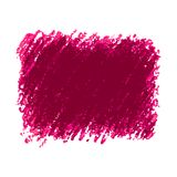 Pink crayon scribble texture stain isolated on white background. Vector colorful detailed backdrop with crayon scribble texture texture. Abstract stain isolated Royalty Free Stock Image