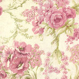 Pink and Cream Floral Fabric Stock Photos