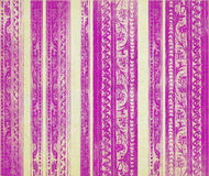 Pink and cream floral wood carved stripes Royalty Free Stock Photography