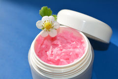 Pink cream, lips balm Stock Images