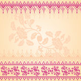 Pink and cream oriental floral background Stock Photos