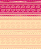 Pink and cream paisley Indian saree background Royalty Free Stock Images