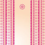 Pink and cream traditional henna banner Stock Photos