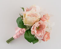 Pink and Cream Wedding Bouquet Royalty Free Stock Image