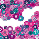 pink creative circles background Royalty Free Stock Photos