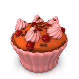 Pink Creme Choco Stars Cake Stock Images