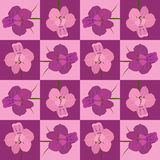 Pink and crimson seamless flower pattern. Vector seamless texture Royalty Free Stock Photo