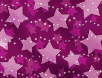 Pink and crimson stars background Royalty Free Stock Photos