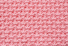 Pink crochet background Stock Images