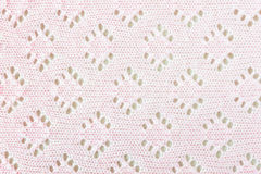 Pink Crochet Cloth Texture Background Stock Photos
