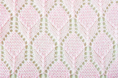 Pink Crochet Fabric Texture Background Royalty Free Stock Photos
