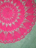 Pink crochet Stock Photo