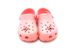 Pink crocks Stock Image