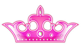 Pink crown stock illustration