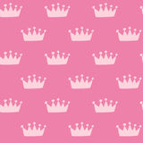 Pink crown pattern Stock Images