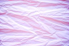 Pink crumpled paper texture. For background use Royalty Free Stock Photos