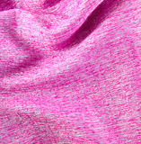 Pink crumpled silk fabric textured Royalty Free Stock Images
