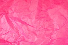 Pink Crumpled Tissue Paper Texture stock images