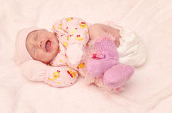 Pink crying Royalty Free Stock Images