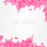 Pink crystal background in polygon and abstract st Royalty Free Stock Image