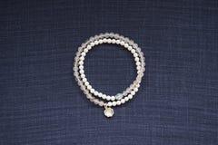 Pink Crystal Bracelet Stock Image