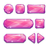 Pink crystal buttons Royalty Free Stock Photos