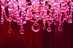 Pink Crystal chandelier Stock Photography