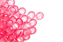 The pink crystal diamond Stock Photos