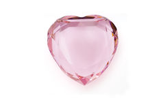 Pink crystal heart Royalty Free Stock Image