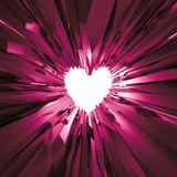 Pink crystal heart background, Valentines day clip art Stock Photo
