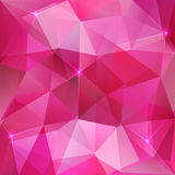 Pink crystal vector abstract background Royalty Free Stock Image