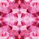 Pink crystal vector abstract seamless pattern Stock Images