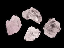 Pink crystals of gem spodumene Royalty Free Stock Image