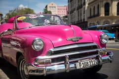 Pink Cuban Classic Royalty Free Stock Images