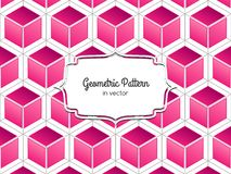 Pink Cube Pattern Royalty Free Stock Photography
