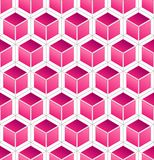 Pink Cube Pattern Stock Images
