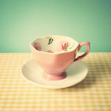Pink cup Stock Image